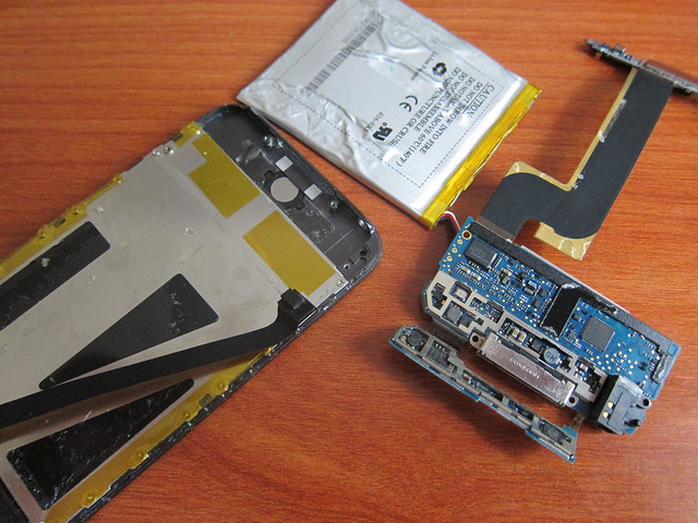 El interior de un iPod Touch 1G
