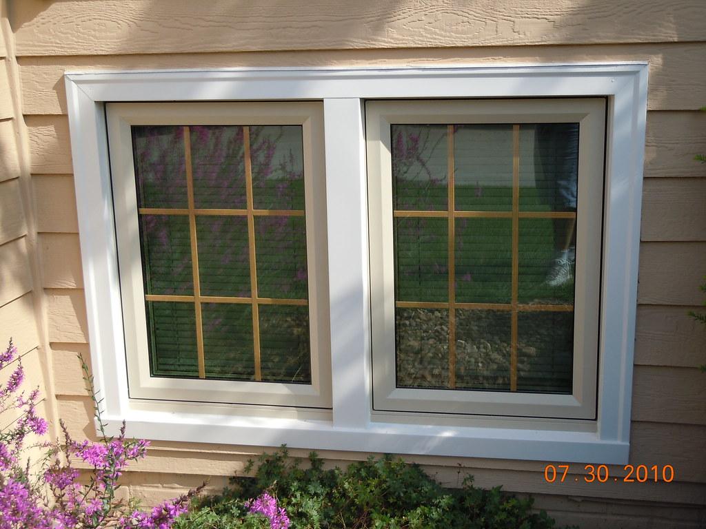 sunrise casement window with linen trim casement windows f flickr