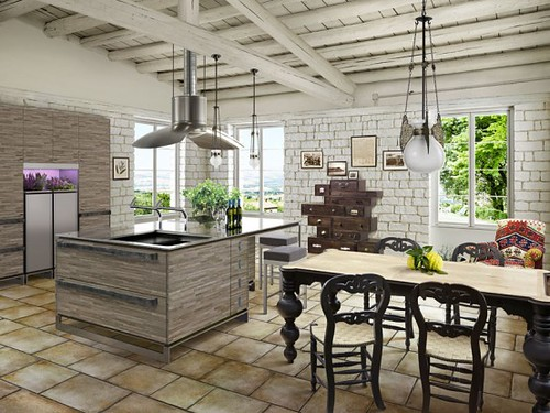 New Inspiration: Contemporary Kitchen With Rustic Design by TOYO | by Design Collector