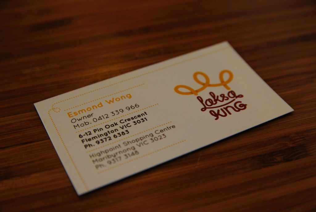 Business card details laksa king in their bright new p flickr business card details laksa king by avlxyz colourmoves