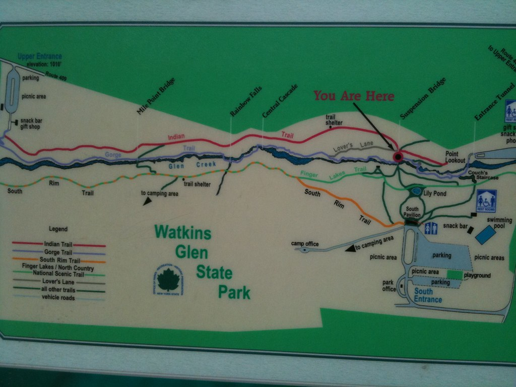 Map of Watkins Glen State Park | Check out the GoPetFriendly… | Flickr