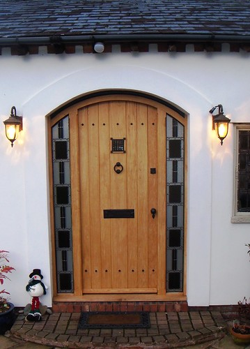 Sensational Front Door With Stained Glass Panels Fitted New Front Door Handles Collection Dhjemzonderlifede