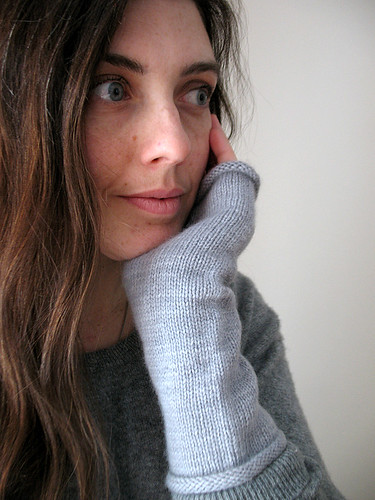 grey fingerless cash mitts 2 | by coco knits