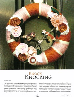 My Yarn Wreath Tutorial from Somerset Home's Fall Edition | by KnockKnocking