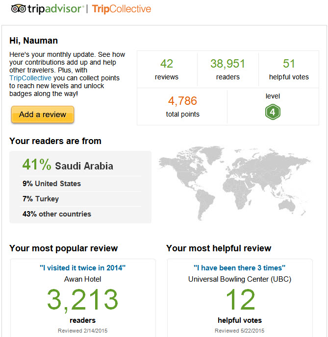 urShadow's Reviews at TripAdvisor