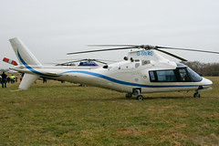 G-IWRB - 1987 build Agusta A109A, at the 2010 Cheltenham Festival