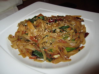 Spicy Noodles and Tofu | by veganbackpacker