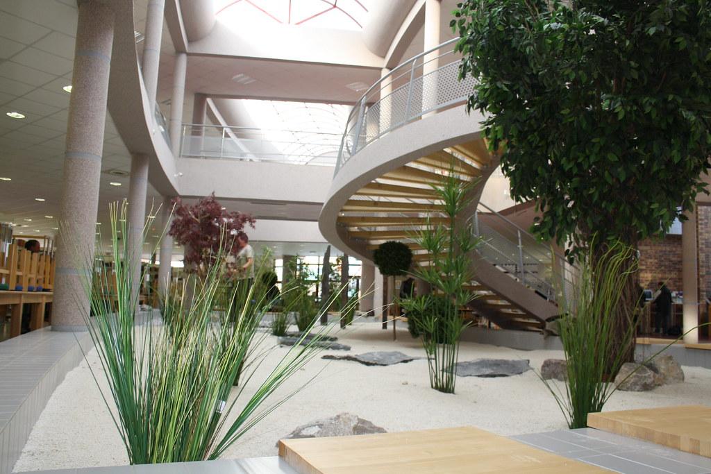 Bibliothque Universitaire  Arras  Jardin Intrieur   Flickr
