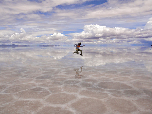 Wendy getting air on the Salt Flats | by roamtheplanet
