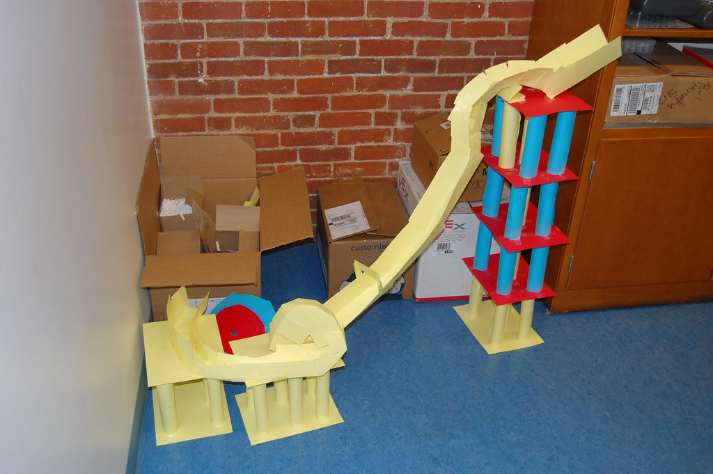 physics class paper roller coaster project | Each team had t… | Flickr