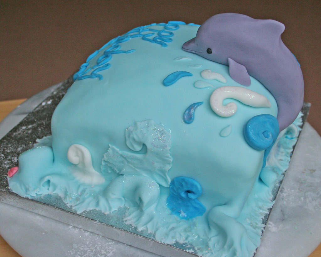 Dolphin Birthday Cake Side View Janet Whitehead Flickr