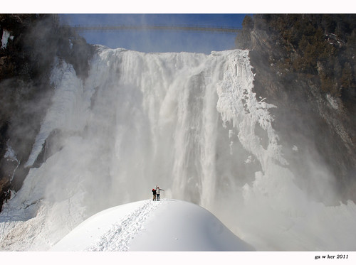 in front of montmorency falls: 38 of 365 | by one_man's_life