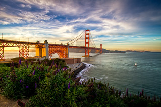 Golden Gate Sunset | by arcreyes [-ratamahatta-]