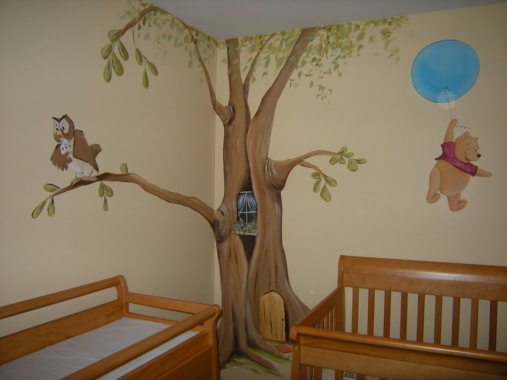 winnie the pooh baby nursery mural wel e to my flickr ph…