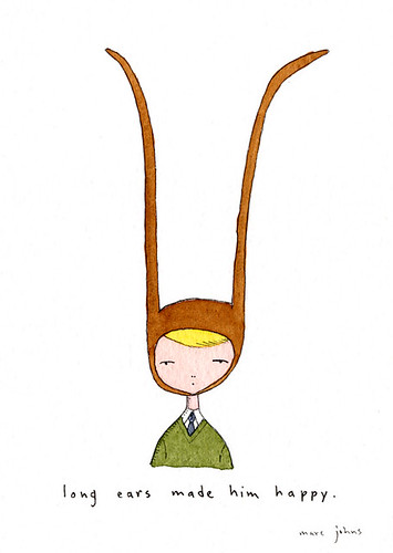 long ears made him happy | by Marc Johns