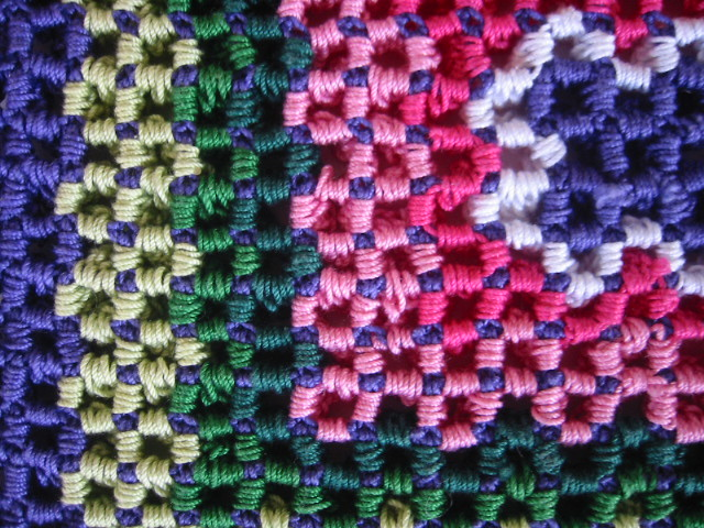 Wiggly Crochet Block, wrong side detail | Aunt Lydia\'s #10 C… | Flickr