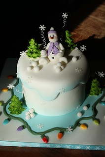 Winter Wonderland cake | by Andrea's SweetCakes