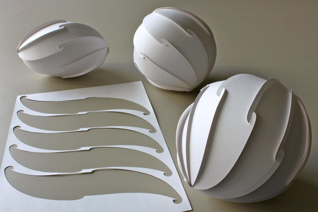 spherical spiral cut pattern in a4 sheet 130 mm diameter flickr