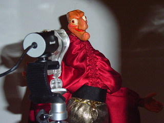 Mr Punch puppet in front of camera | by rosemarybeetle