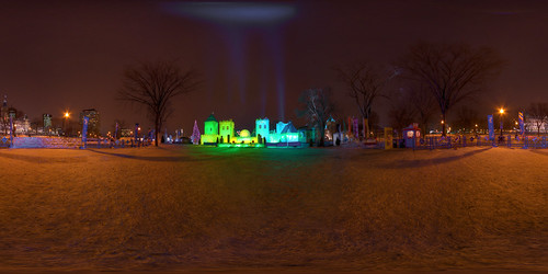 The Quebec Winter Carnival - Bonhommes Castle - Equirectantular Projection | by haban hero