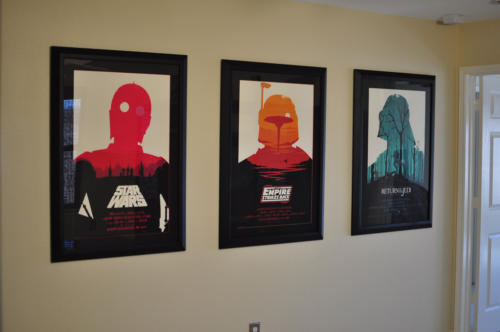 olly moss star wars trilogy framed and hung no flash flickr