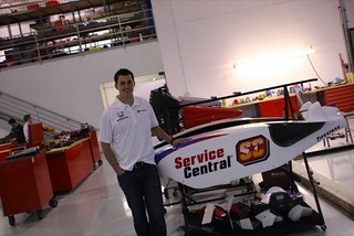 Graham poses with his new sidepods | by IndyCar Series