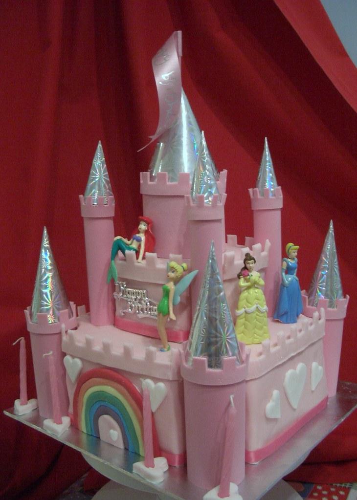 Disney Princess Castle Birthday Cake Cath Field Flickr