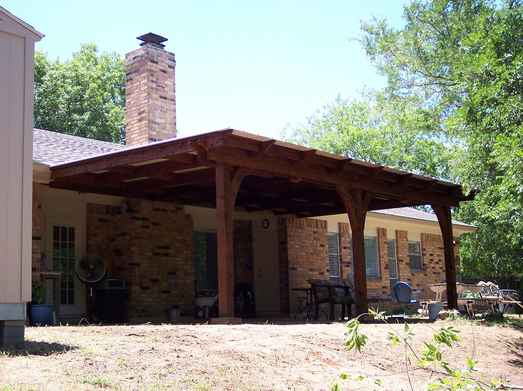 ... Metal Roof Patio Cover, Cedar Frame | By Warren Built
