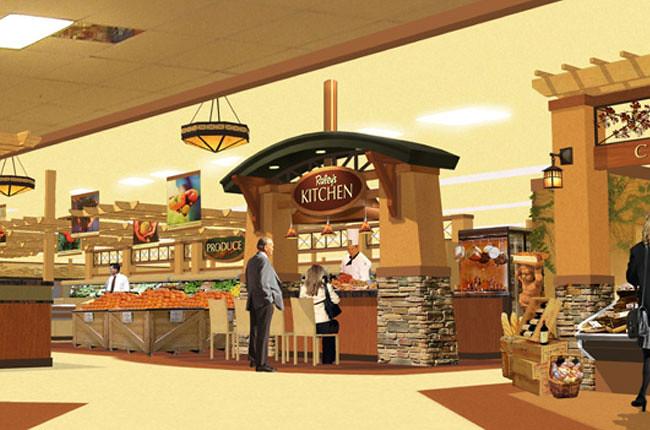 ... Interior Market Rendering | Grocery Store Design | Demonstration Kitchen  Design | Interior Market Upgrade |