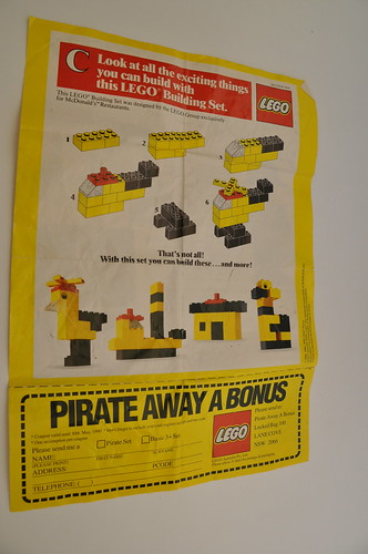 McDonalds Lego Happy Meal Toy Playset C Instructions Sheet | by jadedoz