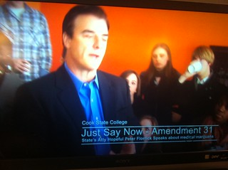 Just Say Now lower third on The Good Wife | by Just Say Now
