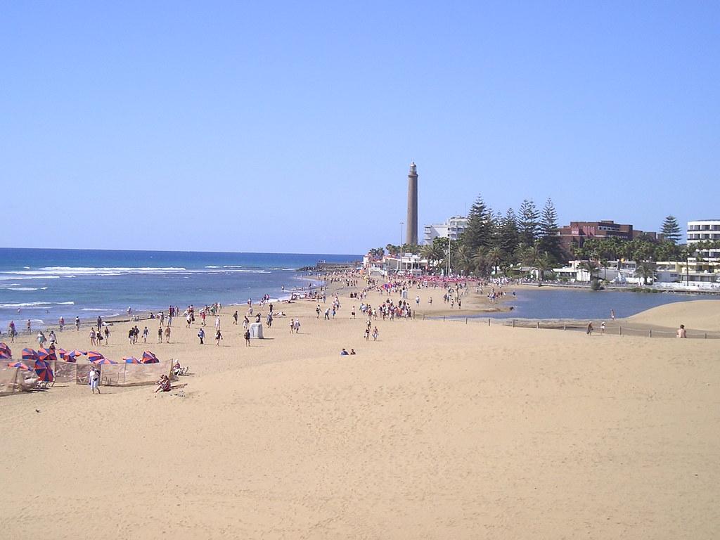 playa maspalomas faro