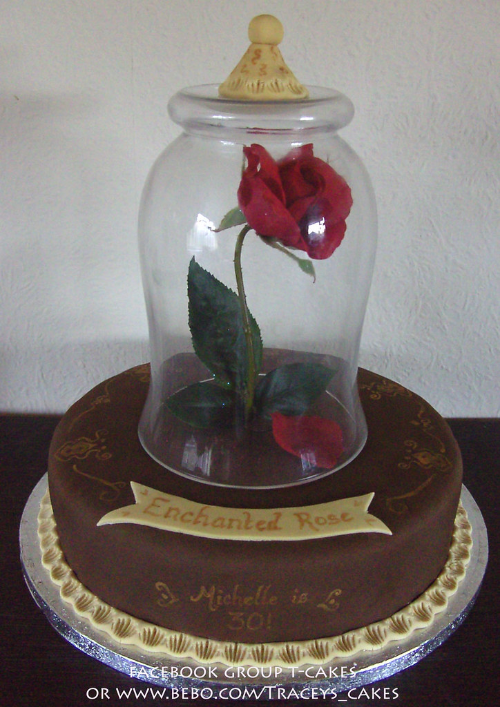 Beauty And The Beast Enchanted Rose By Little Cherry Cake Company