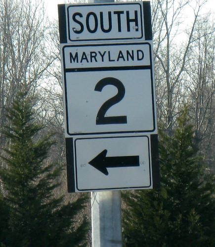SOUTHERN MARYLAND TRAFFIC SIGN CALVERT