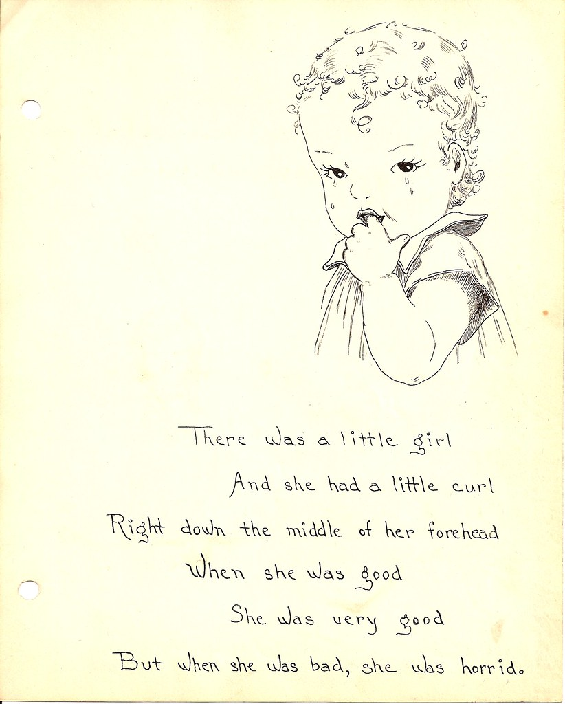 there was a little girl who had a little curl