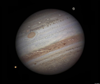 Jupiter, with Ganymede & Io - September 2010. | by viewsofthesolarsystem