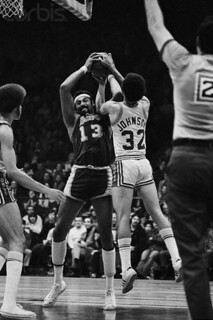John Johnson fights for the rebound against Wilt | by Cavs History