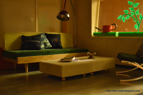 Couch and arc lamp see more on my blog call small for What is a small couch called