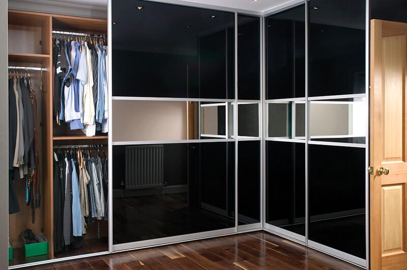 ... Sliderobes fitted sliding wardrobe black glass corner interior | by Sliderobes & Sliderobes fitted sliding wardrobe black glass corner inte\u2026 | Flickr