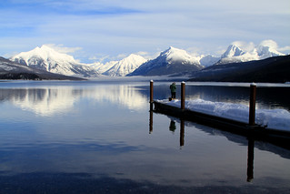 Winter Fishing on Lake McDonald | by GlacierNPS