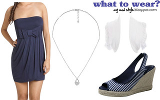 what to wear navy white sandals | by Jessie {Creating Happy}