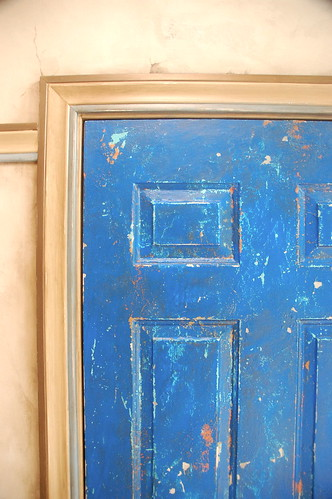 Metal Utility Door With Distressed Paint Finish My