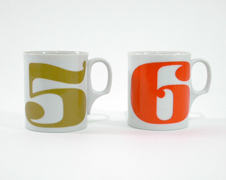 #351: Neiman Marcus number mugs (5 & 6, set of 2) | by fancyweirdo
