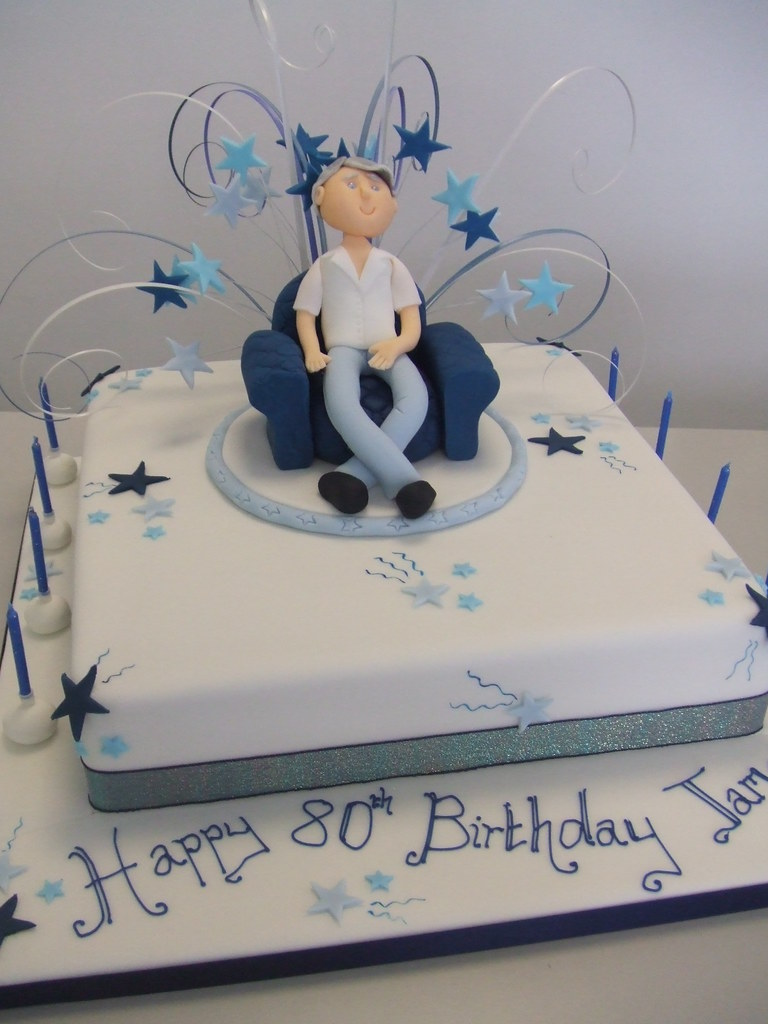 CAKE 80th birthday cake by Jules 12 inch square madeira Flickr