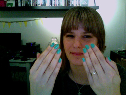 Turquoise Nails | by unicornparade