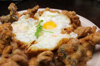 deep-fried baby octopus with fried eggs | by SeppySills