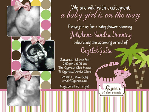 Queen of the Jungle Ultrasound Baby Shower Invitations | Flickr