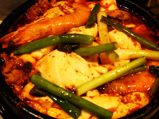 Lucie's spicy soft tofu stew | by maangchi