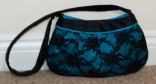 Blue and lace buttercup bag | by E_McN