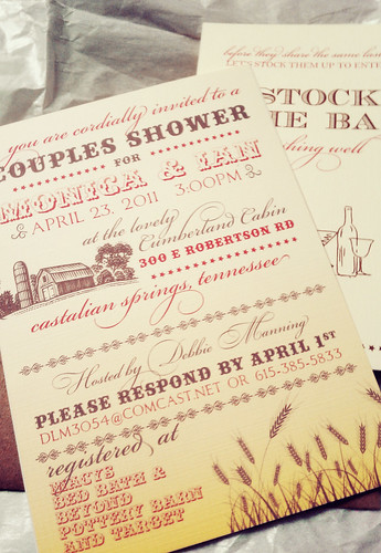 Hatch Shower Bridal Shower Invitation | by blush printables